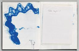 Untitled (Bleed-Through Of Previous Page, Left Page); Untitled (Color Transfer, Right Page)