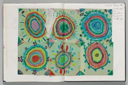 Untitled (Pasted Paper Designs By Chloe (Artist's Daughter), Two-Page Spread)