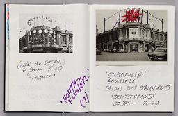 Untitled (Notes And Photograph, Left Page); Untitled (Design For Europalia Inflatable, Right Page)