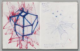 Untitled (Bleed-Through Of Previous Page, Left Page); Untitled (Design For Inflatable Sculpture, Right Page)