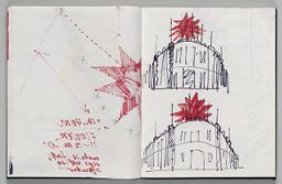 Untitled (Bleed-Through Of Previous Page, Left Page); Untitled (Designs For Europalia Inflatable, Right Page)