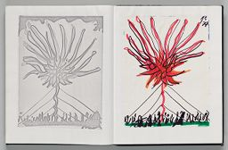 Untitled (Pasted Photocopy Of Sky Event Sketch, Left Page); Untitled (Pasted Sky Event Sketch, Right Page)