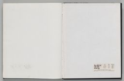 Untitled (Blank, Left Page); Untitled (Blank With Manufacturer's Sticker, Back Endpaper, Right Page)