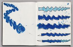 Untitled (Bleed-Through Of Previous Page, Left Page); Untitled (Designs For Wind Sock, Right Page)