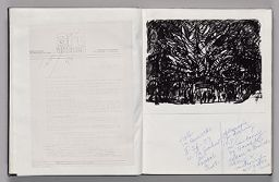 Untitled (Pasted Letter With Notes, Left Page); Untitled (Pasted Photograph With Sketch And Notes, Right Page)