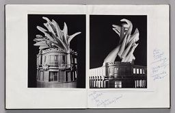 Untitled (Pasted Photograph Of Europalia Model, Left Page); Untitled (Pasted Photograph Of Europalia Model And Notes, Right Page)