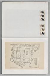 Untitled (Stamps From Spain, Left Page); Untitled (Pasted Architectural Plan For Palais Des Beaux Arts De Bruxelles)