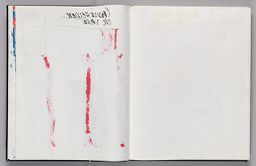Untitled (Bleed-Through Of Previous Pages, Left Page); Untitled (Color Transfer, Right Page)