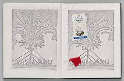 Untitled (Pasted Photocopy Of Sky Event Sketch, Left Page); Untitled (Pasted Photocopy Of Sky Event Sketch, Right Page)