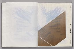 Untitled (Pasted Sketch, Left Page); Untitled (Pasted Sketches, Right Page)
