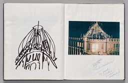 Untitled (Pasted Sketch, Left Page); Untitled (Pasted Photograph And Notes, Right Page)