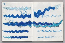 Untitled (Designs For Wind Sock Atop Bleed-Through, Two-Page Spread)