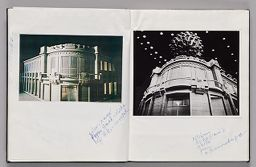 Untitled (Pasted Color Copy Of Europalia Model And Note, Left Page); Untitled (Pasted Photograph Of Europalia Model And Note, Right Page)