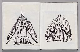 Untitled (Pasted Sketch, Left Page); Untitled (Pasted Sketch, Right Page)