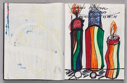 Untitled (Color Transfer, Left Page); Untitled (Rosenthal Project Designs, Right Page)