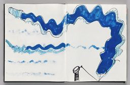 Untitled (Design For Wind Sock Atop Bleed-Through, Two-Page Spread)