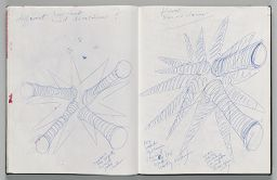 Untitled (Design For Inflatable Sculpture, Left Page); Untitled (Design For Inflatable Sculpture, Right Page)