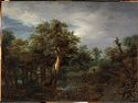 Wooded Landscape With An Old Oak