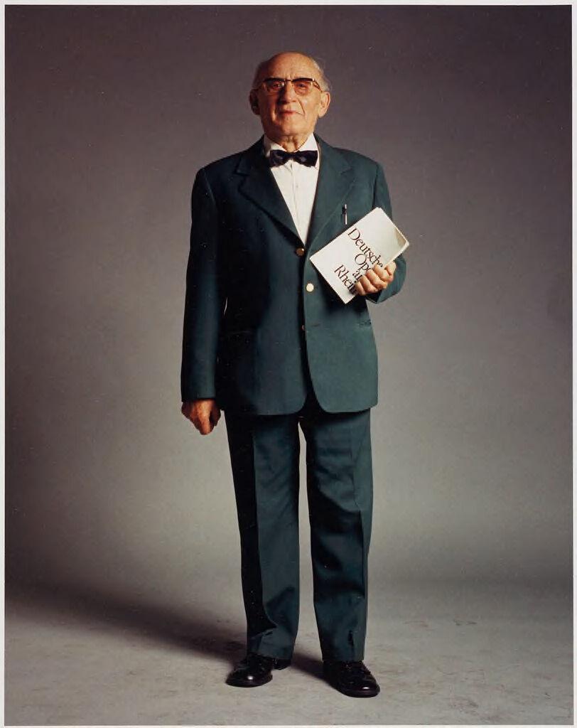 Cäsar Boosen, 82, Box-Keeper, German Opera Of The Rhine, Düsseldorf