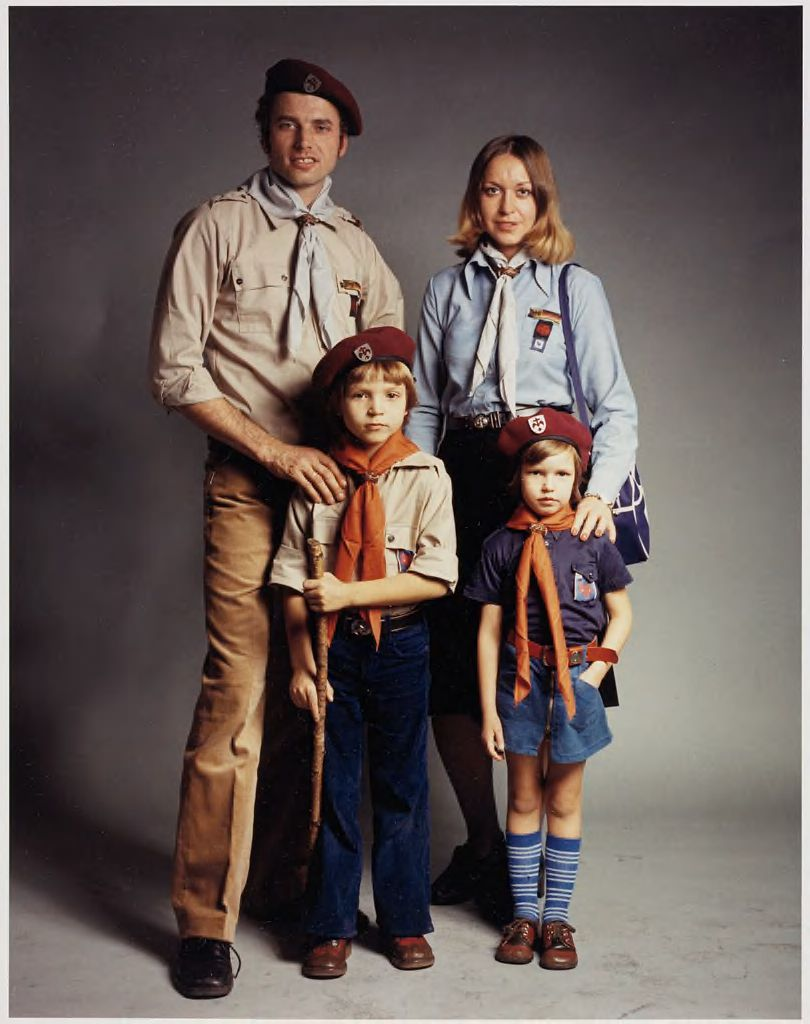 Essing Family (Hermann Essing, 35, Rover Scout Leader / Bruna Essing, 32, Rover Scout Leader / Frank Essing, 6, Cub Scout / Tanja Essing, 4, Brownie)