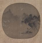 Misty Landscape with a Fisherman in a Boat