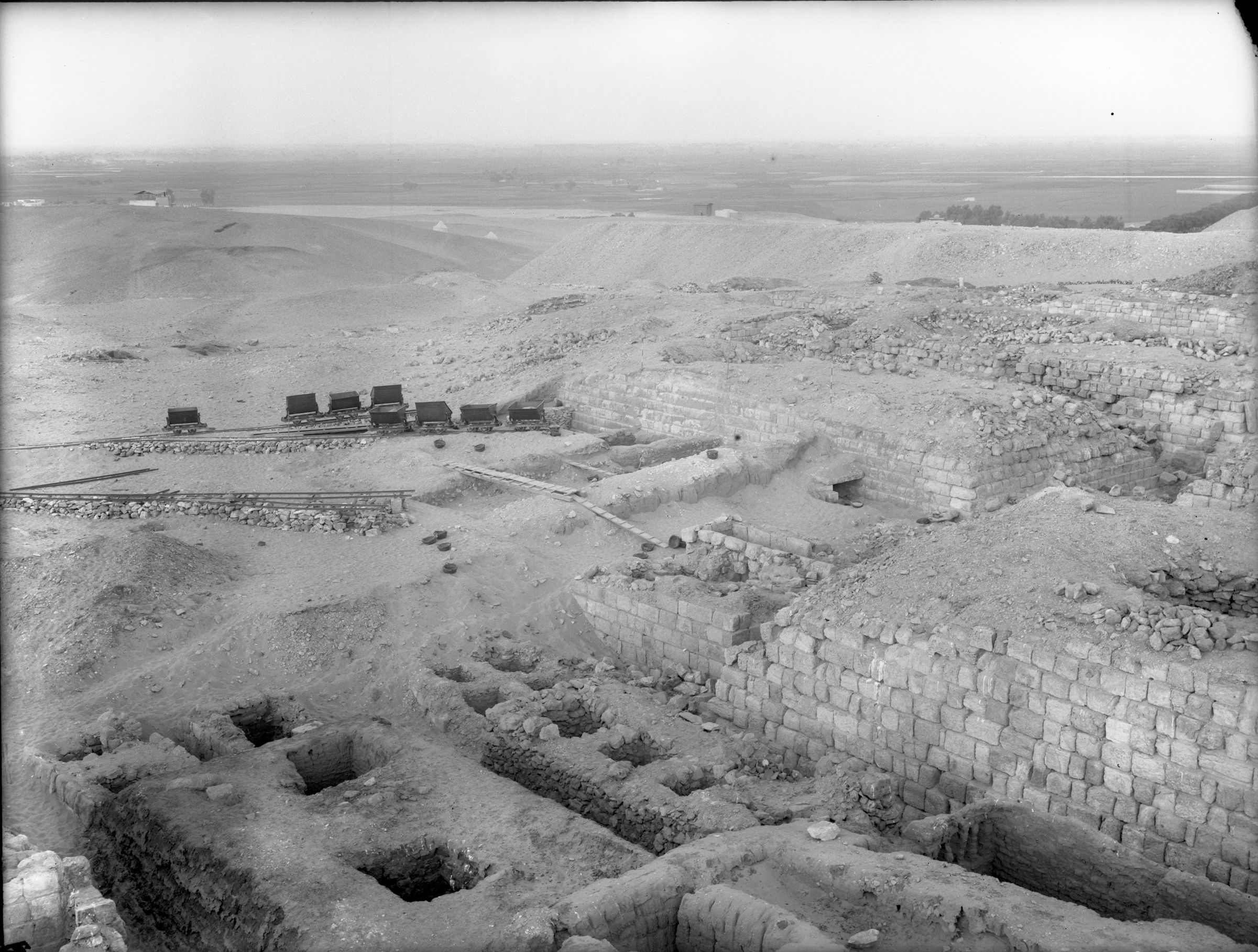 Western Cemetery: Site: Giza; view: Cemetery G 3000, G 1211