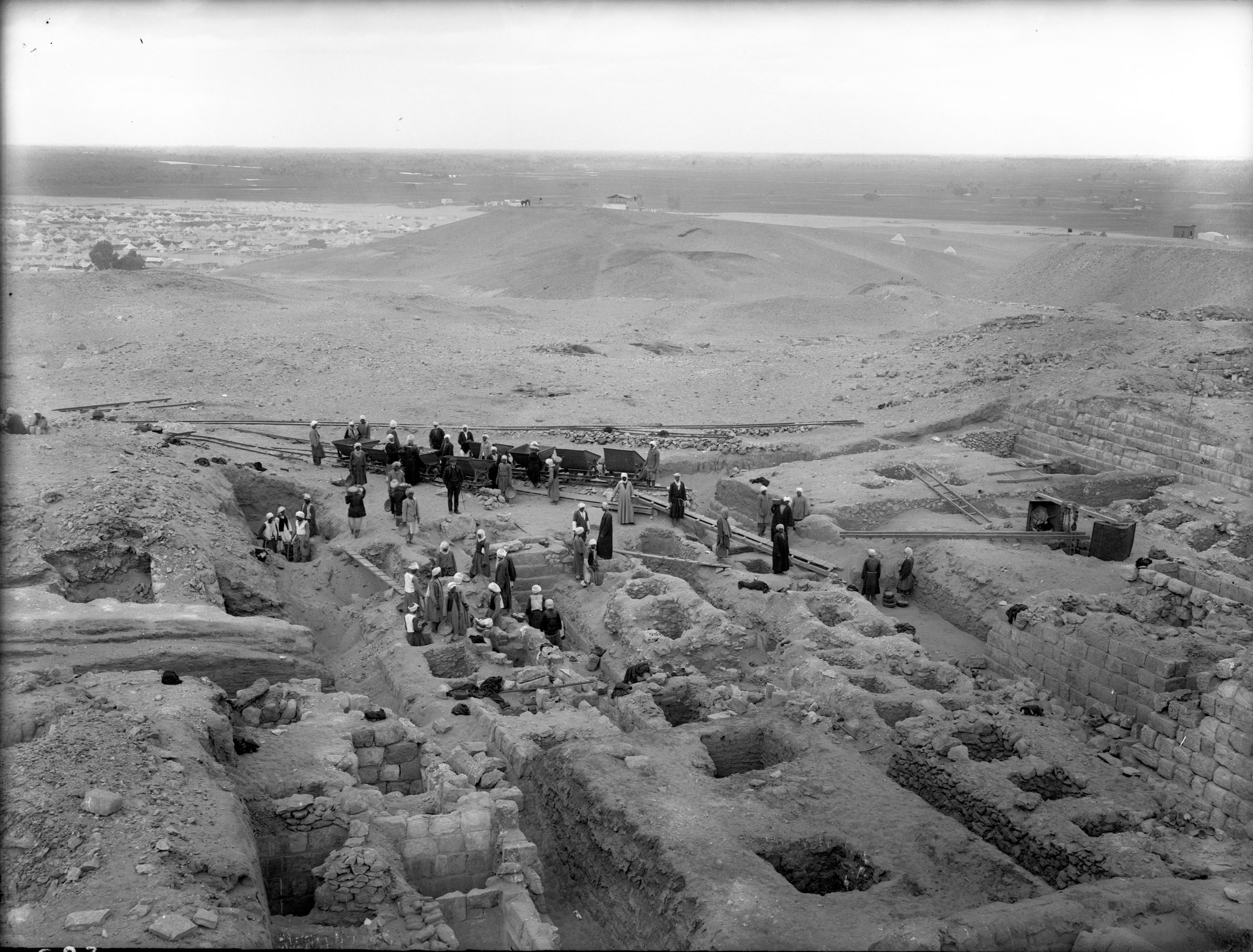 Western Cemetery: Site: Giza; view: G 3000, G 3010, G 3020
