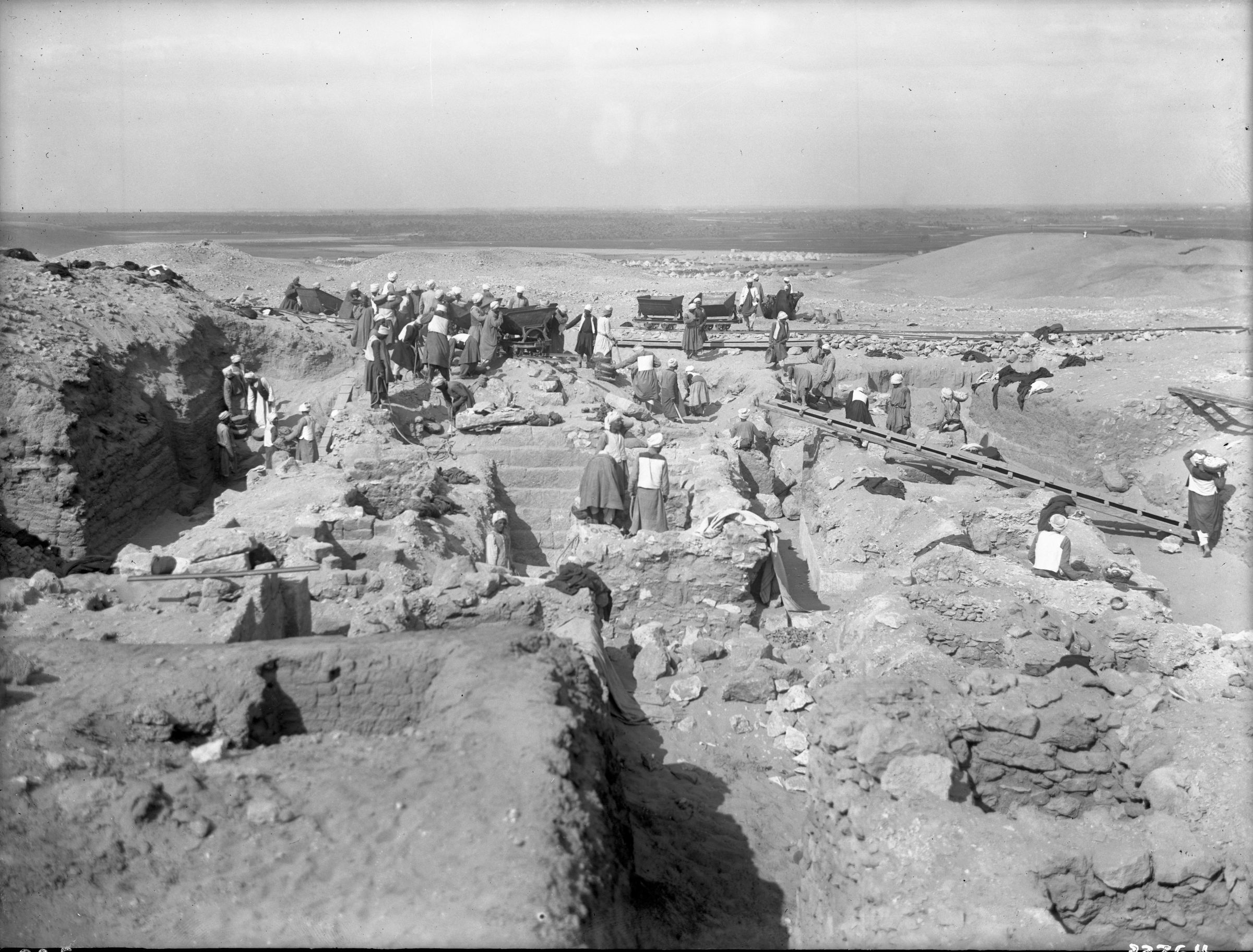 Western Cemetery: Site: Giza; view: Cemetery G 3000, G 3010, G 3020