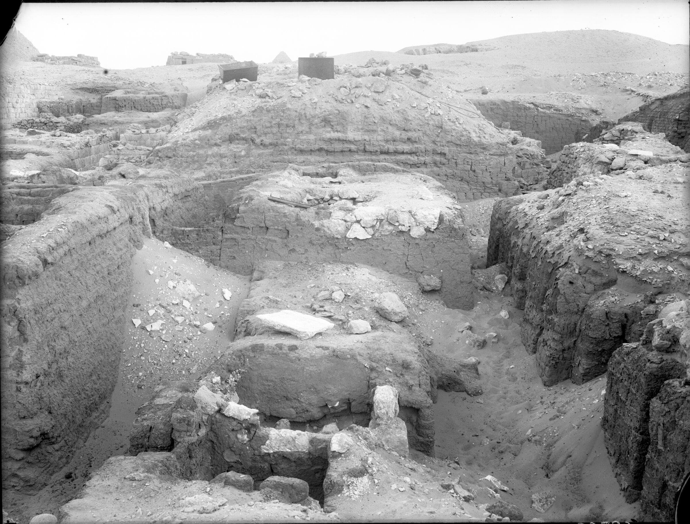 Western Cemetery: Site: Giza; view: Cemetery G 3000, G 3030, G 3036, G 3037