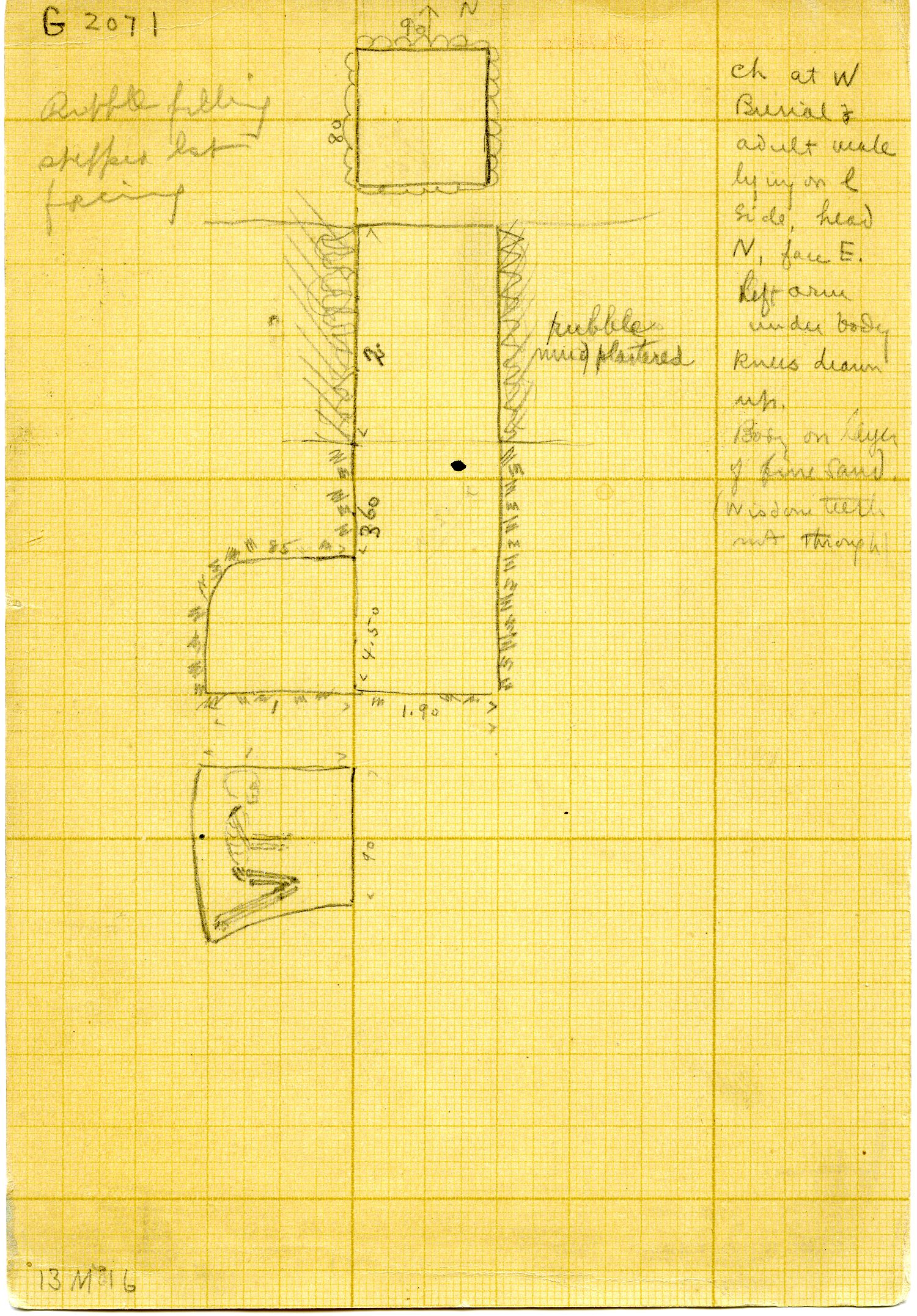Maps and plans: G 3071, Shaft A