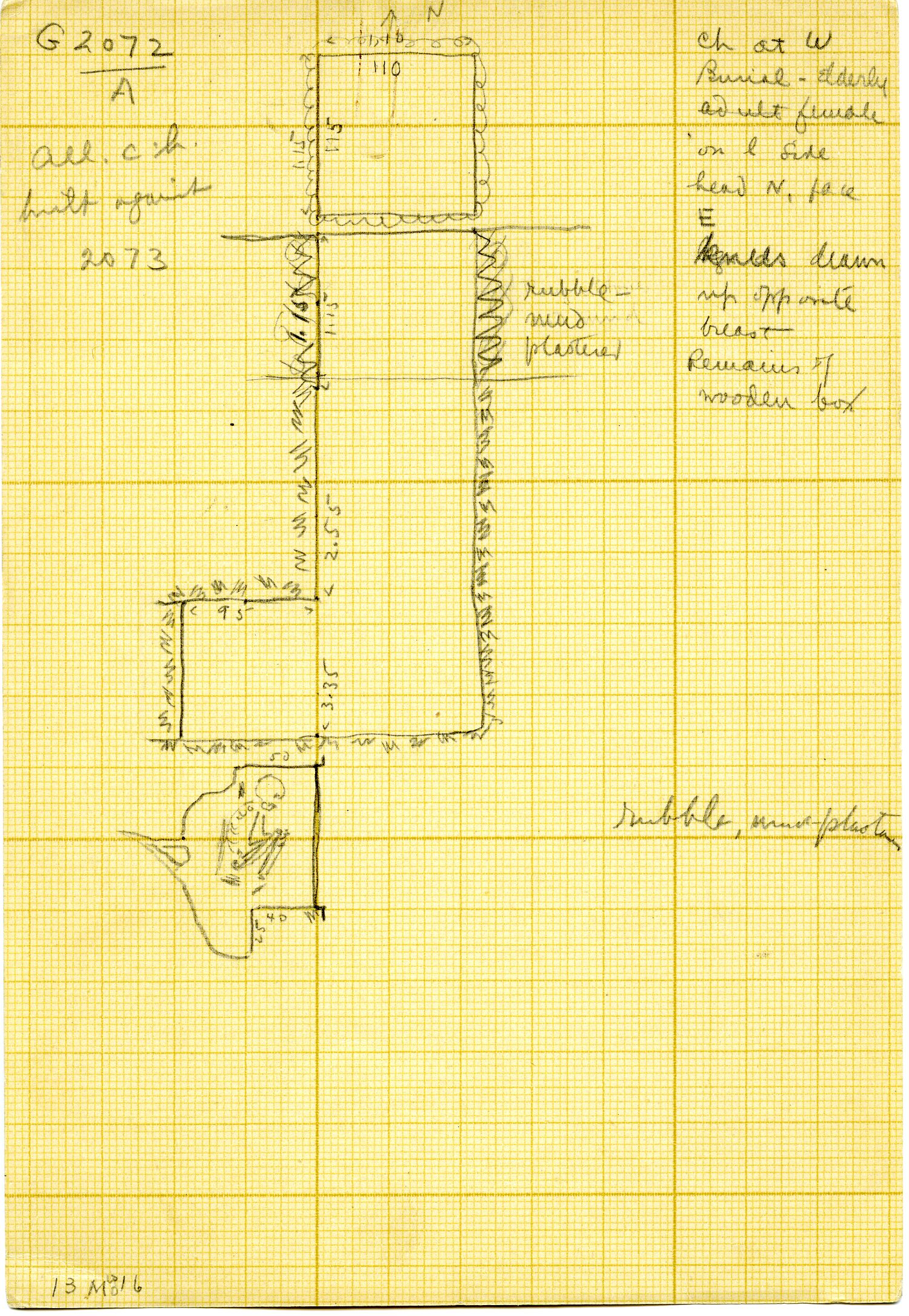 Maps and plans: G 3072, Shaft A