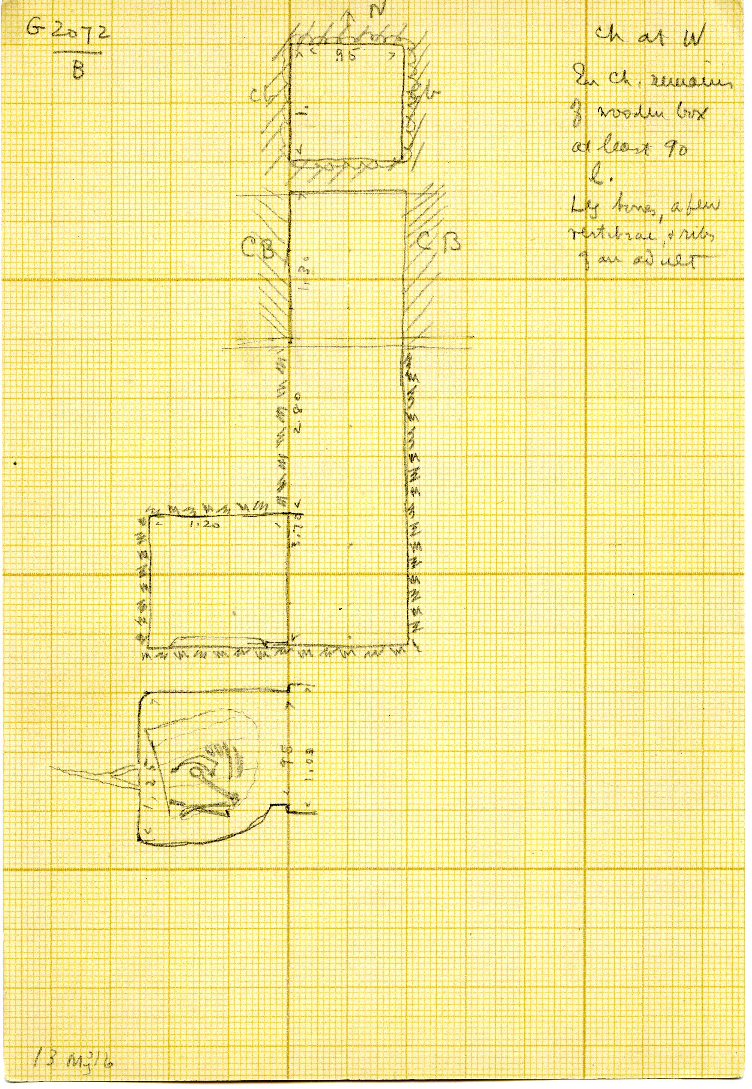 Maps and plans: G 3072, Shaft B