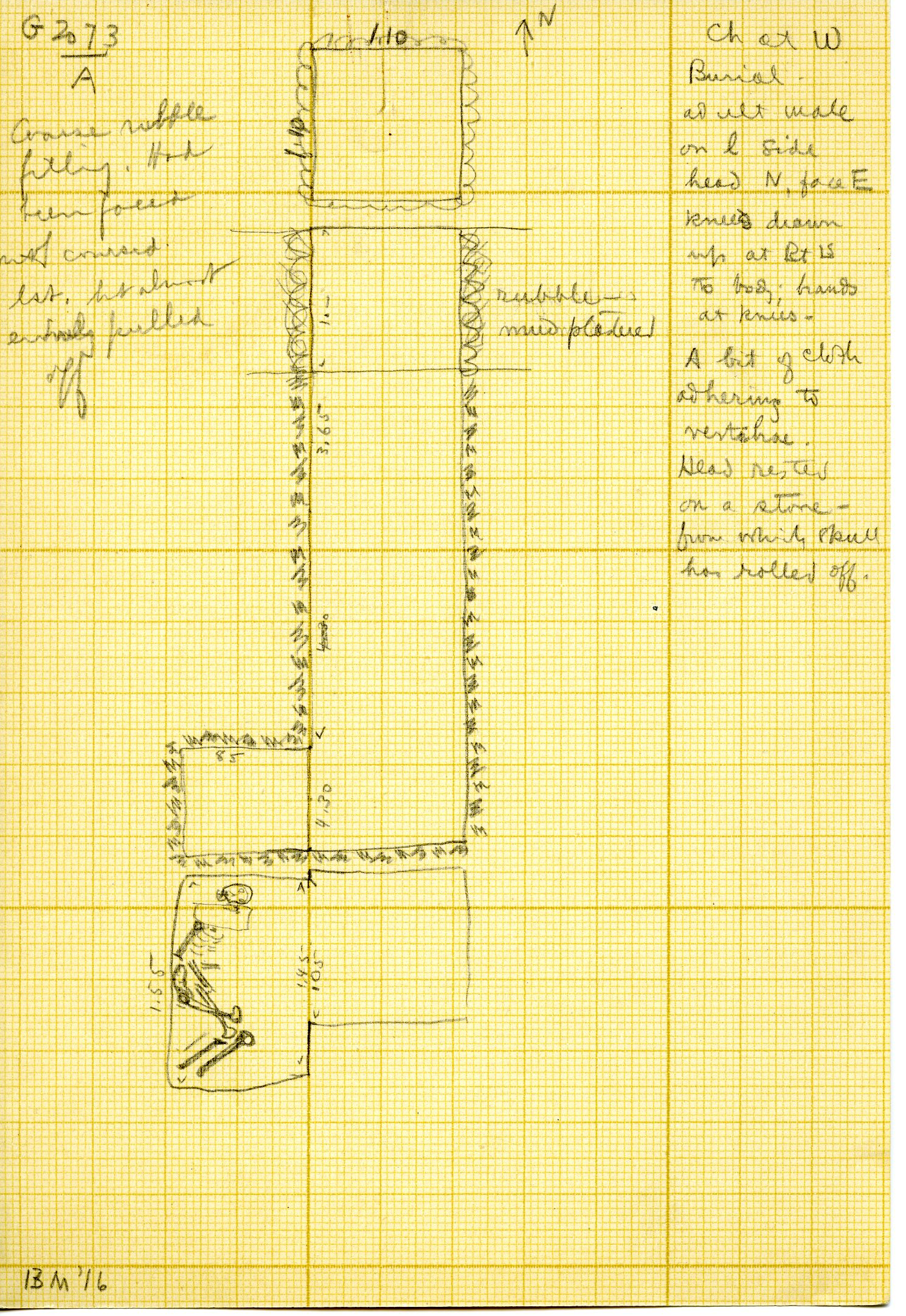 Maps and plans: G 3073, Shaft A