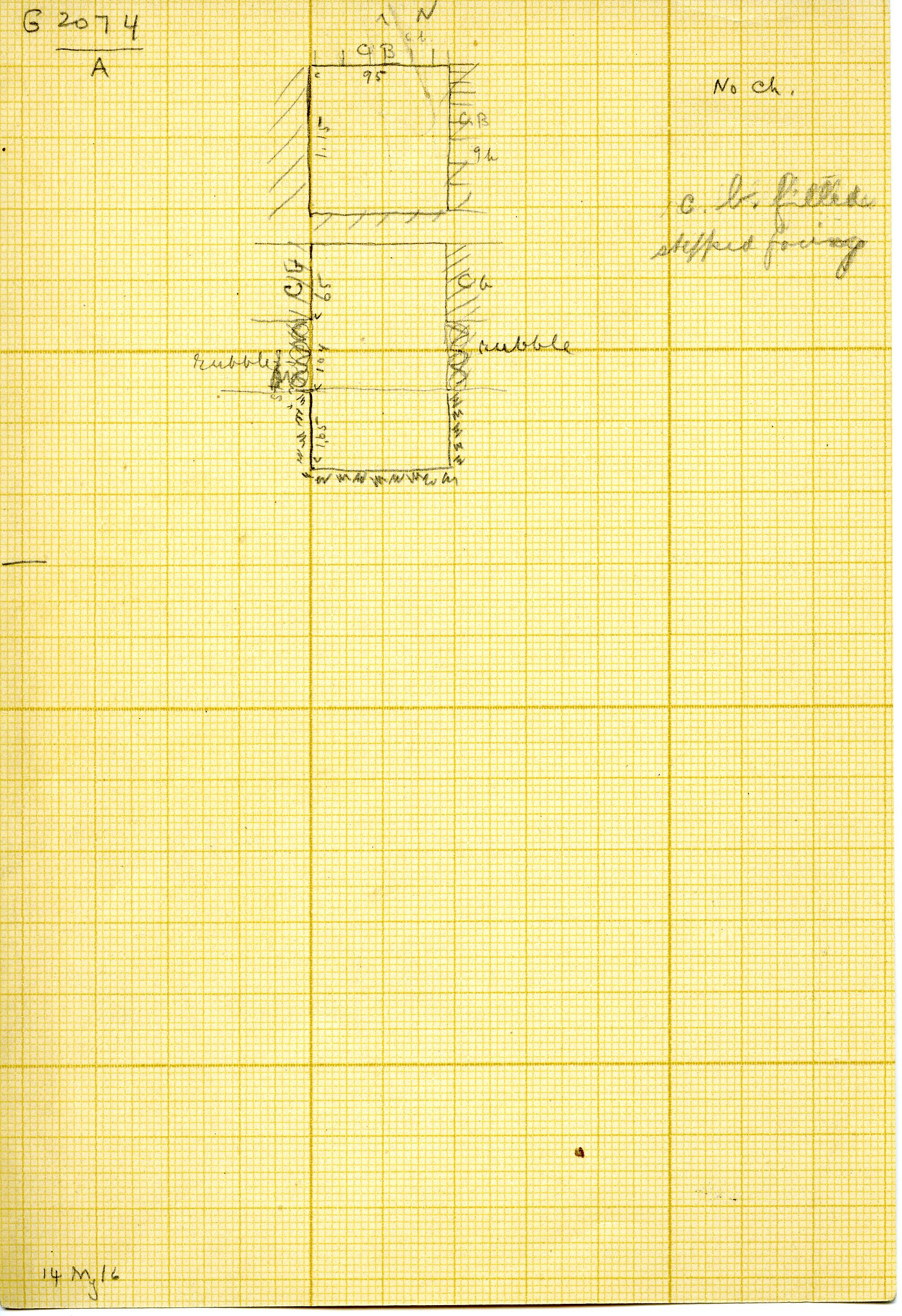 Maps and plans: G 3074, Shaft A