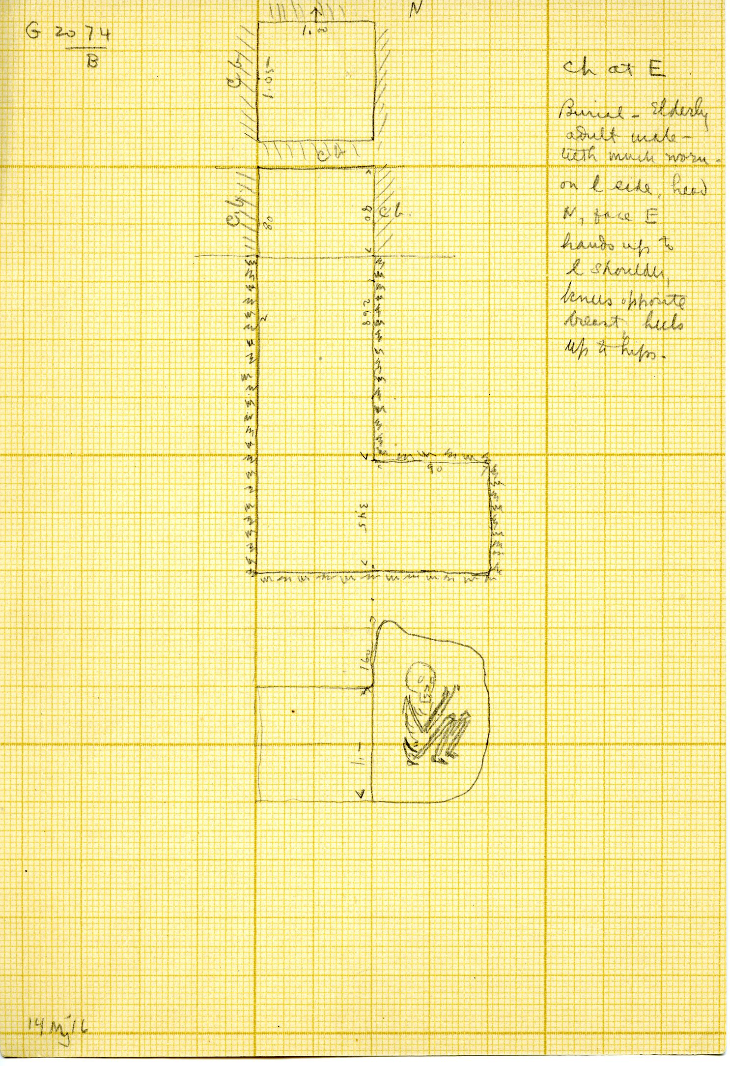 Maps and plans: G 3074, Shaft B