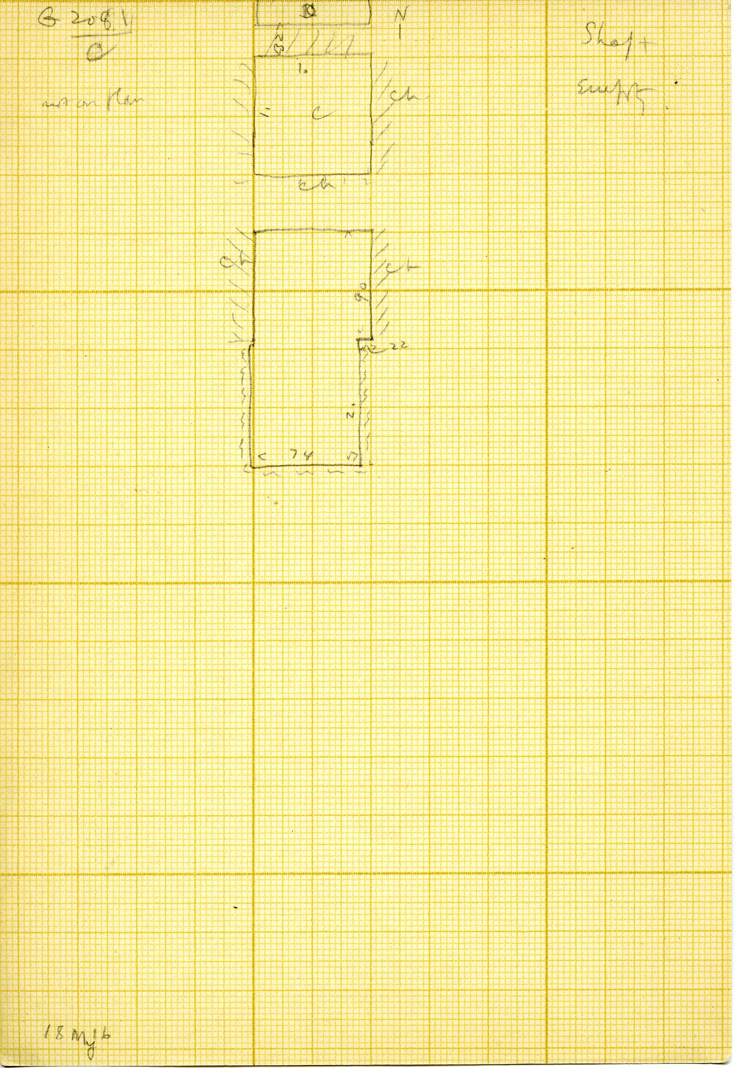 Maps and plans: G 3081, Shaft C