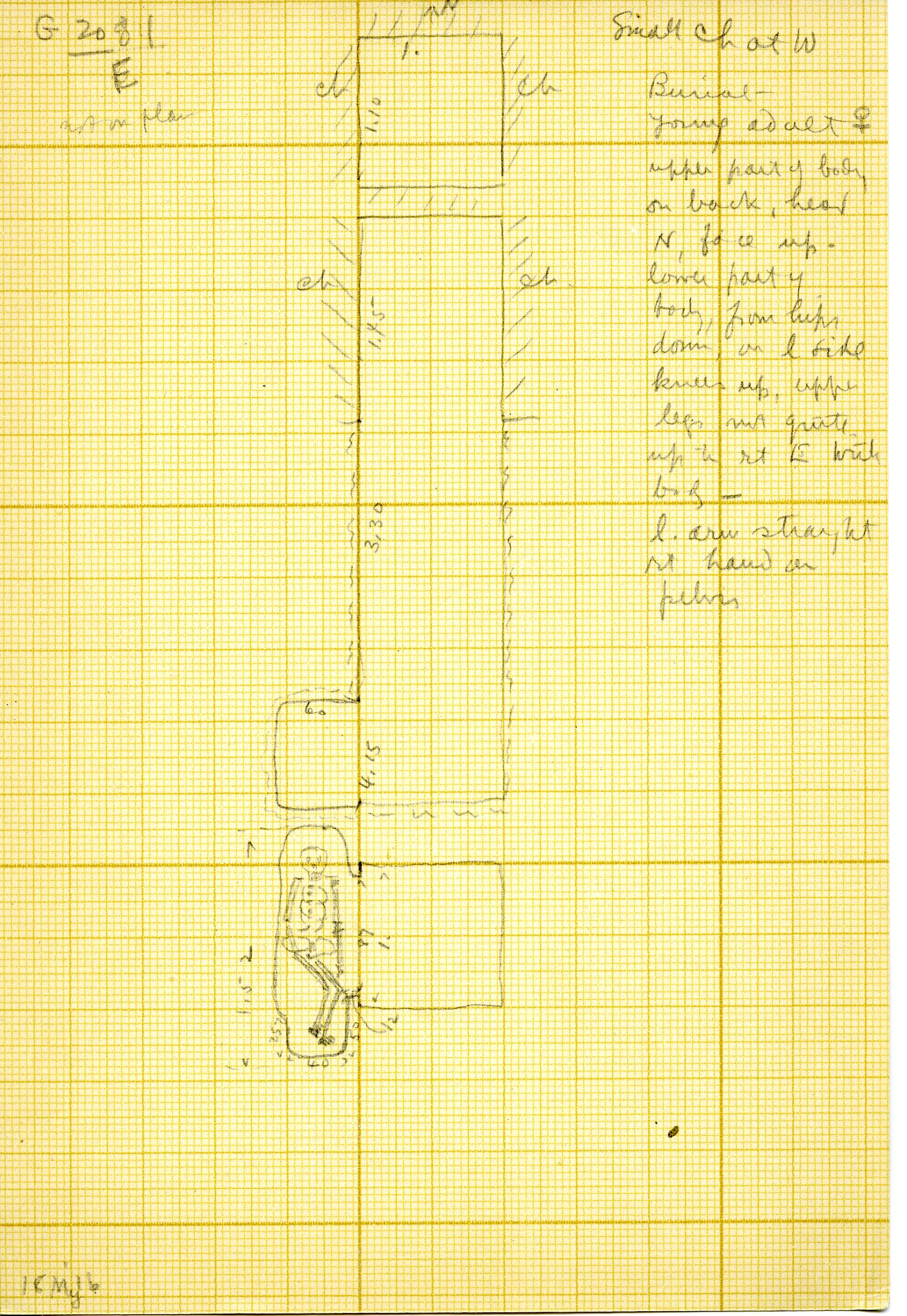 Maps and plans: G 3081, Shaft E