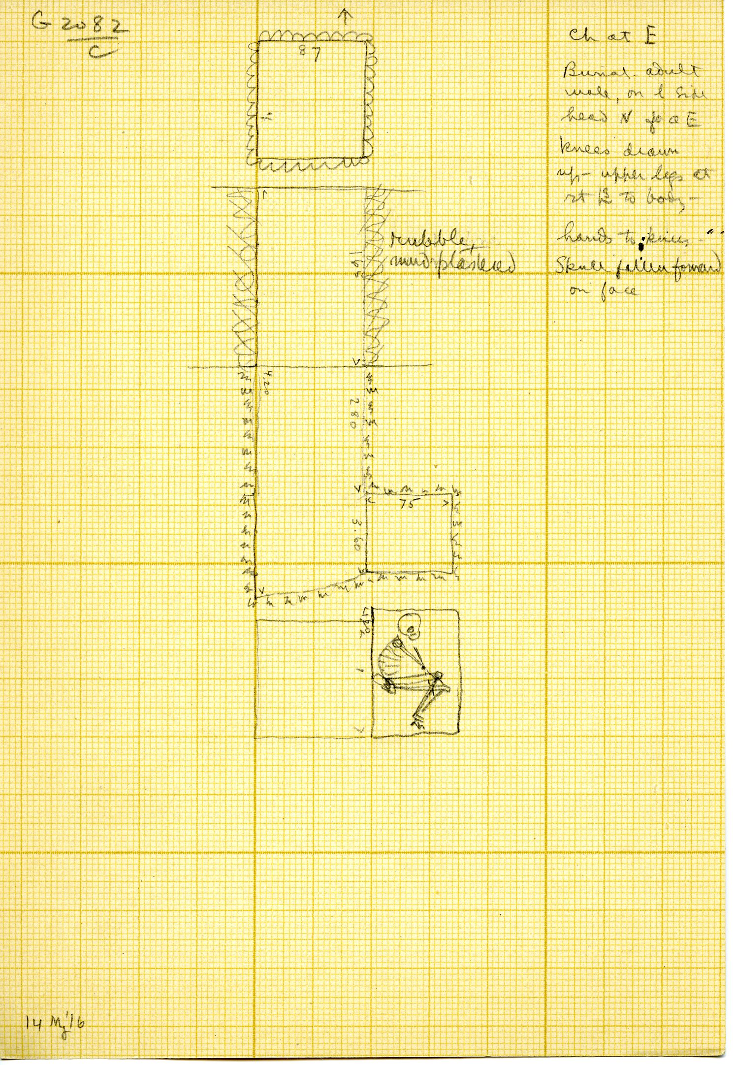 Maps and plans: G 3082, Shaft C