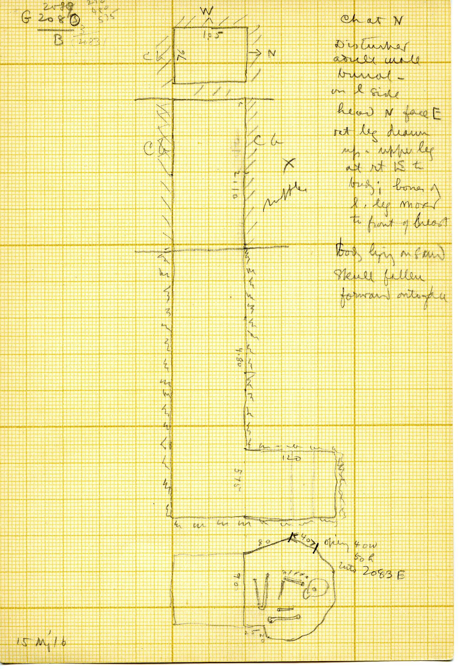 Maps and plans: G 3083, Shaft B