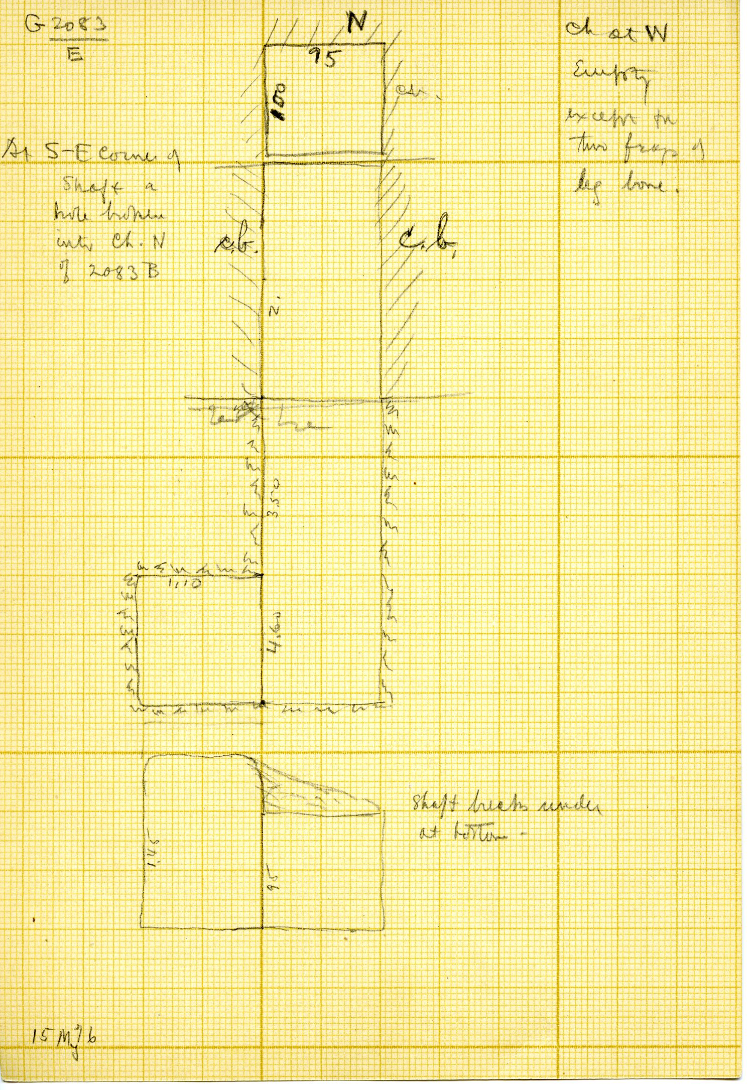 Maps and plans: G 3083, Shaft E