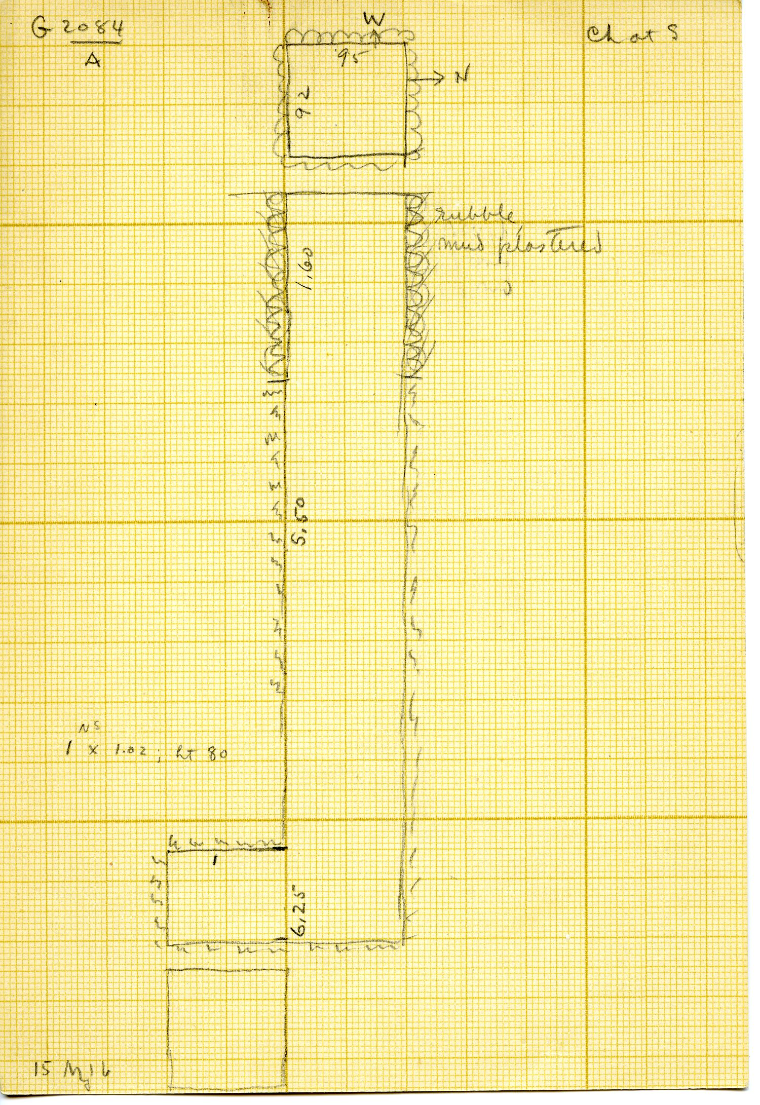 Maps and plans: G 3084, Shaft A