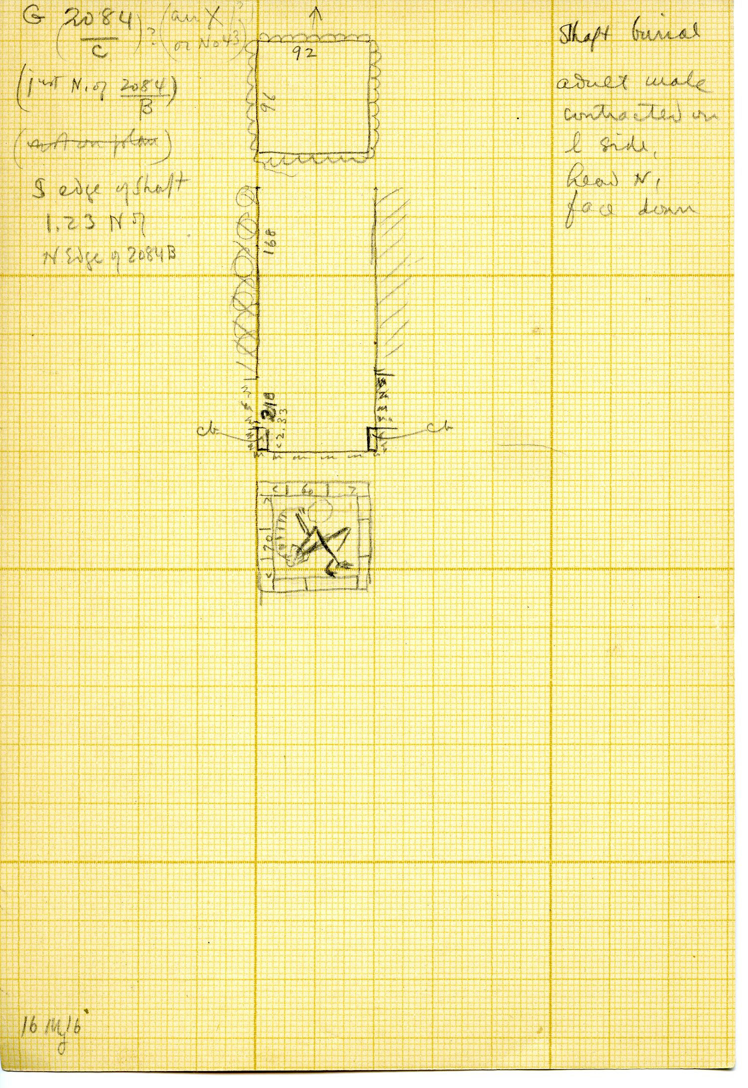 Maps and plans: G 3084, Shaft C