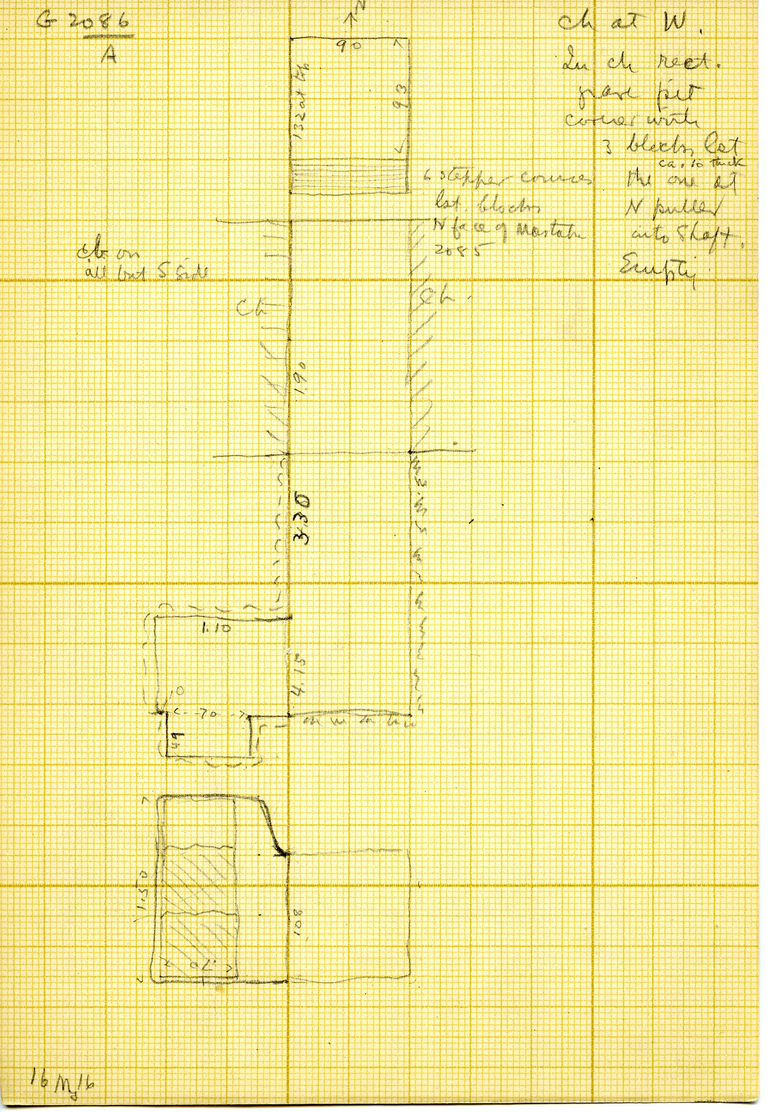 Maps and plans: G 3086, Shaft A