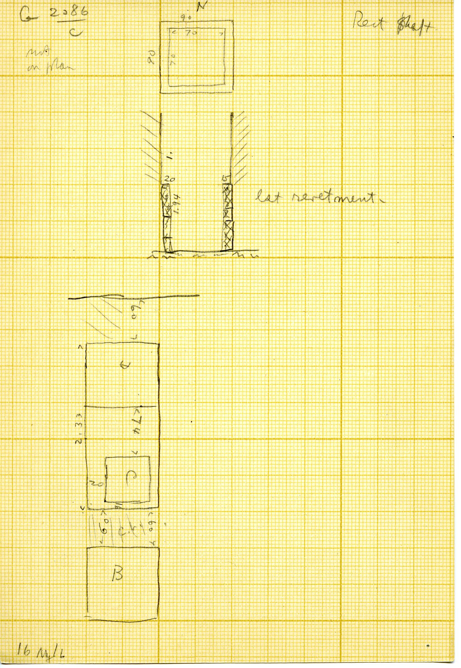 Maps and plans: G 3086, Shaft C