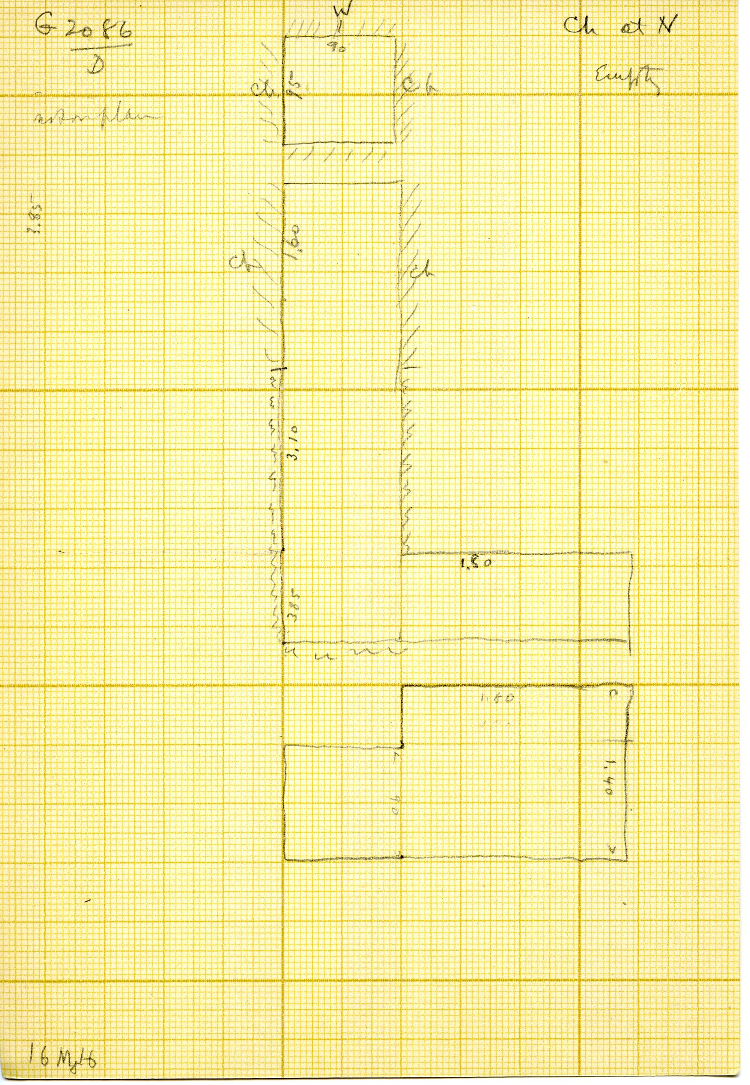 Maps and plans: G 3086, Shaft D