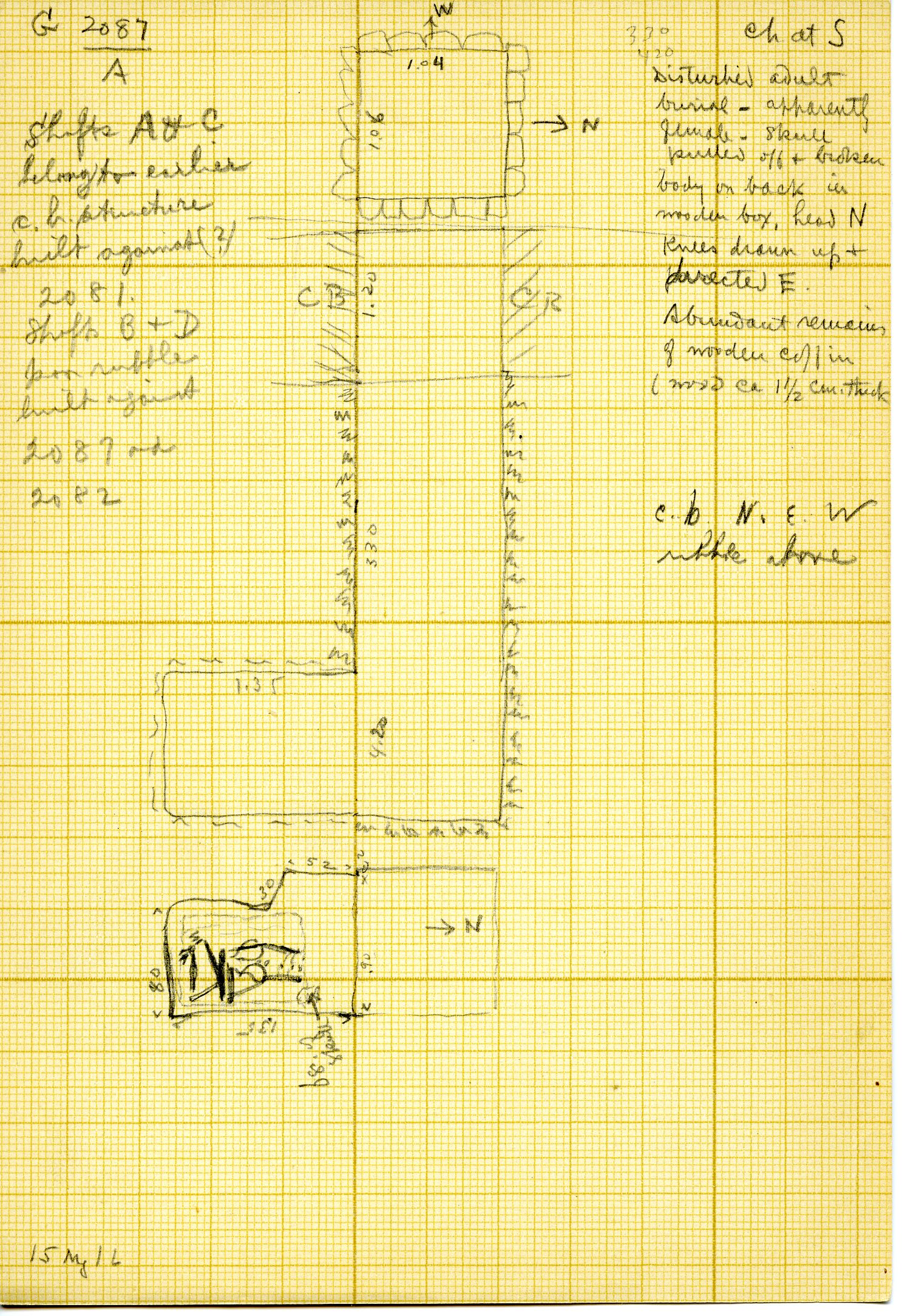 Maps and plans: G 3087, Shaft A