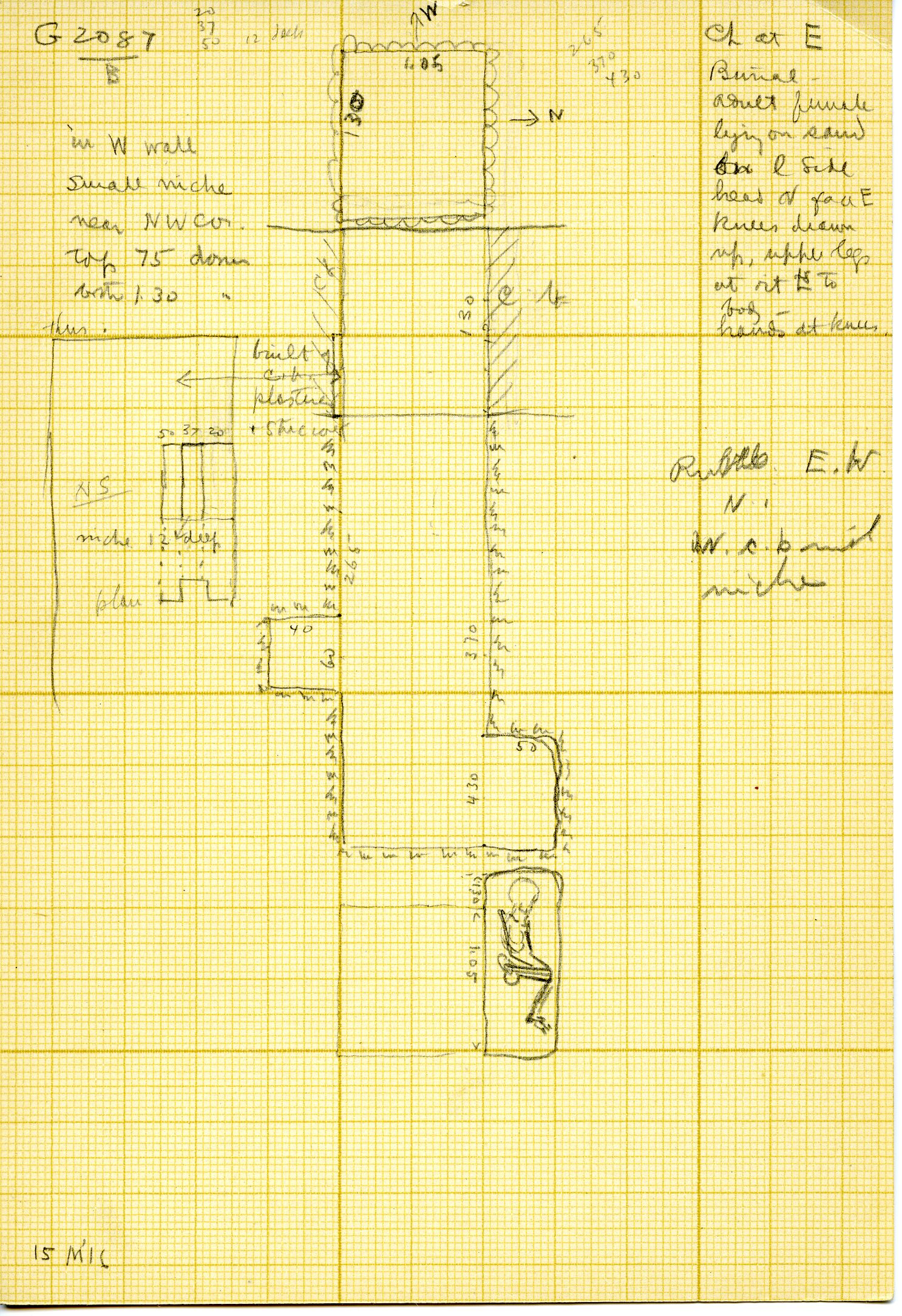 Maps and plans: G 3087, Shaft B