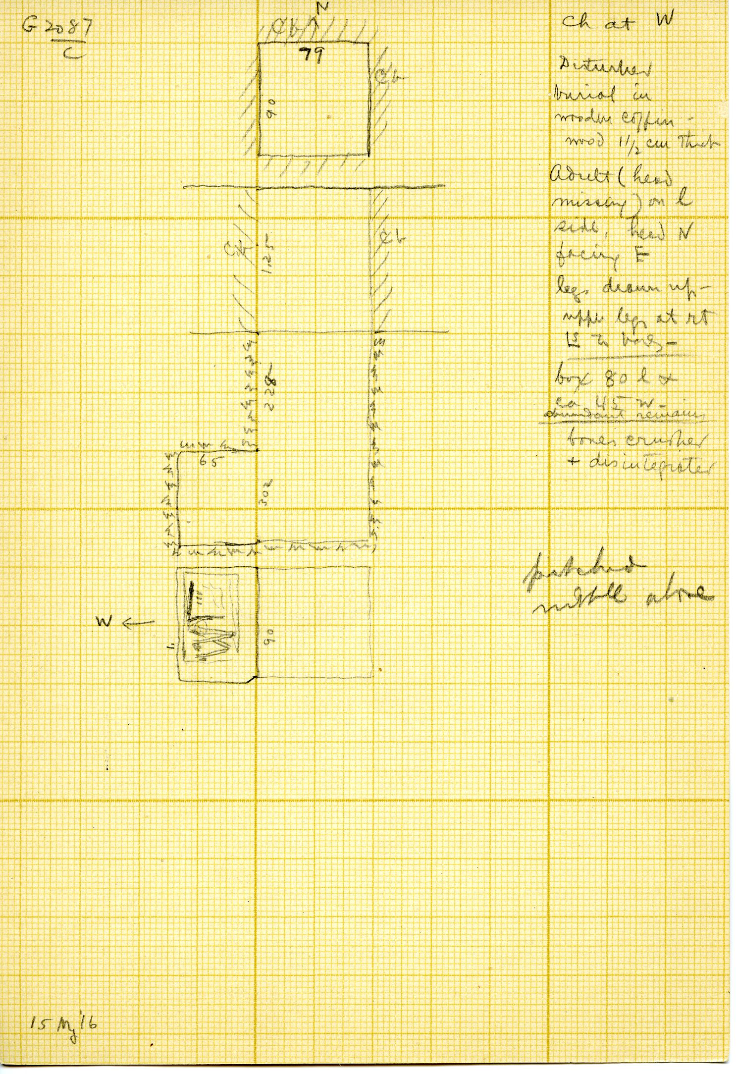 Maps and plans: G 3087, Shaft C