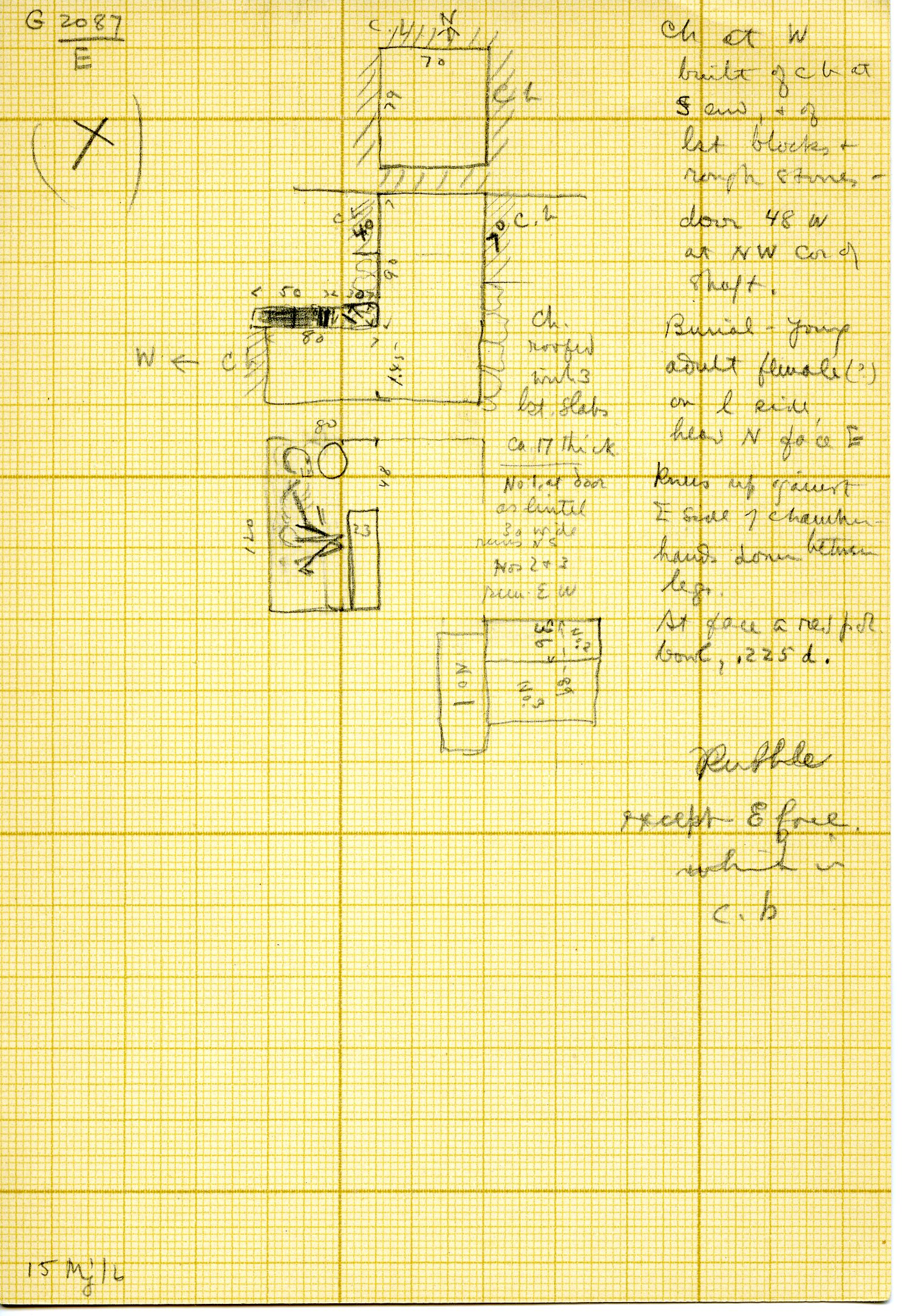Maps and plans: G 3087, Shaft E