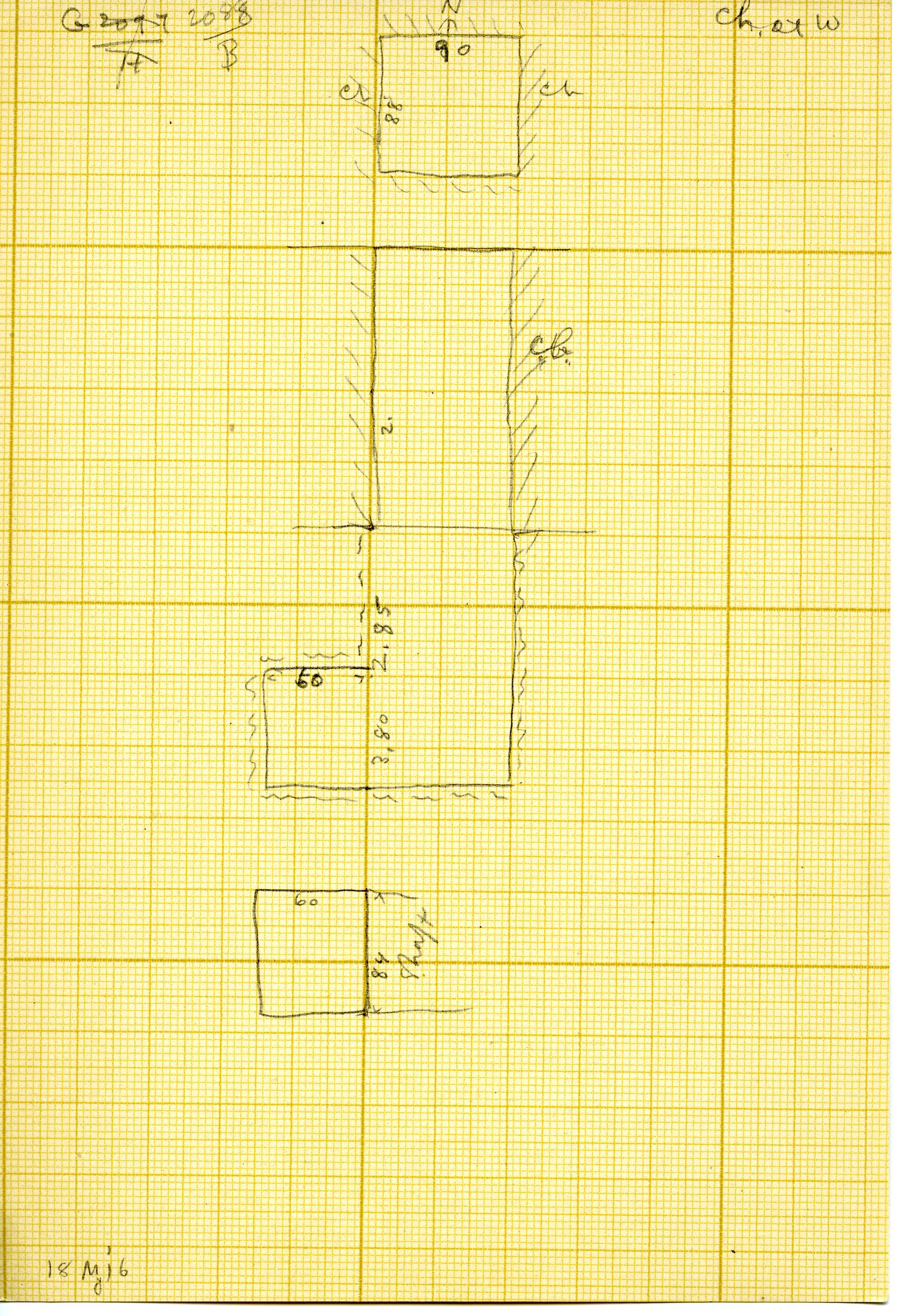 Maps and plans: G 3088, Shaft B